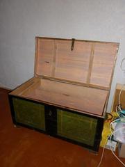 Продаётся сундук деревянный