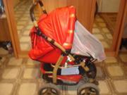 Продаётся коляска (зима-лето),  цвет-красный